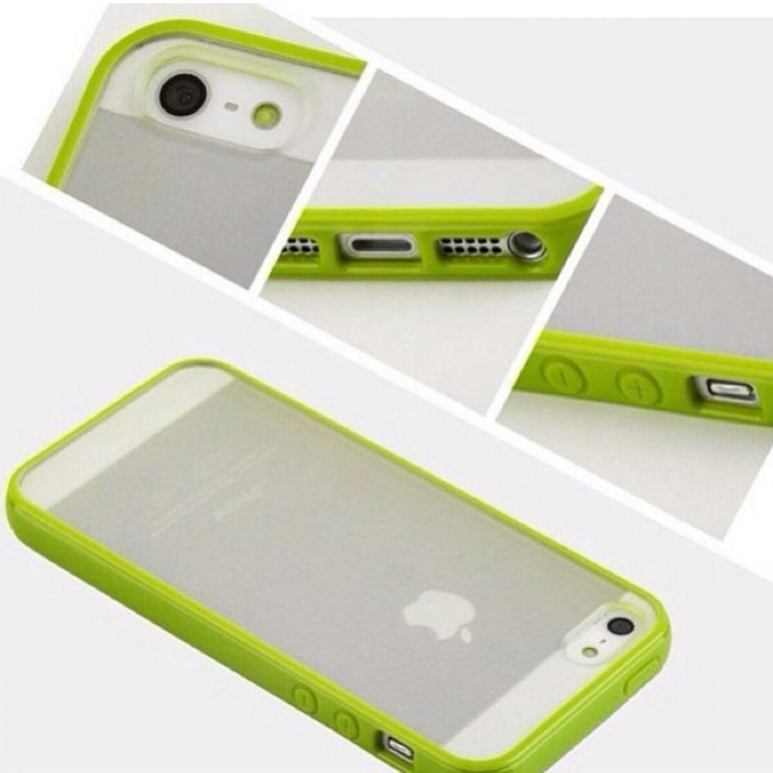 Чехлы для iphone 5/5s - бампера с прозрачной крышкой (желтый)