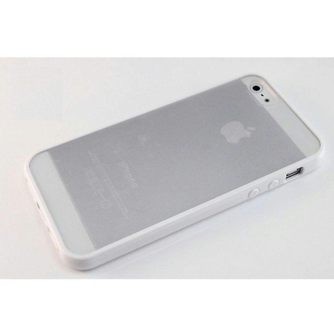 Чехлы для iphone 5/5s - бампера с прозрачной крышкой (Белый)