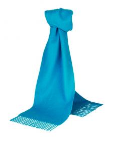 шарф 100% шерсть ягнёнка , классический  цвет Бирюзовый  Turquose  ,плотность 6