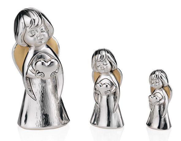 Серебряная фигурка ангела с сердцем (Италия)