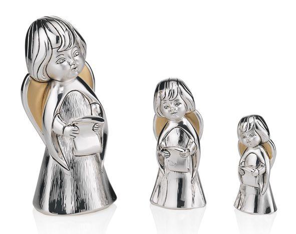 Серебряная фигурка поющего ангела (Италия)