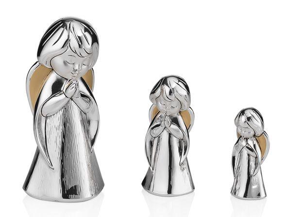 Серебряная фигурка молящегося ангела (Италия)
