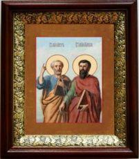 Петр и Павел (19х22), темный киот