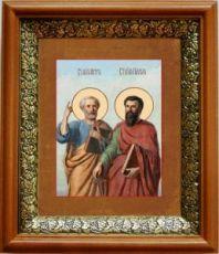 Петр и Павел (19х22), светлый киот