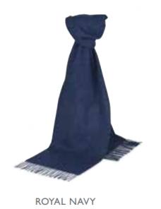 шарф 100% шерсть ягнёнка , расцветка Royal Navy Королевский Темно-Синий,  ,плотность 6