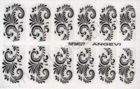 Наклейки для ногтей NFM 027
