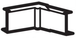 DLPlus Угол внутренний/внеший 40х16 белый