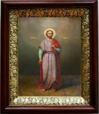 Адриан Никомидийский (19х22), темный киот