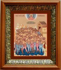 40 Мучеников Севастийских (19х22), светлый киот