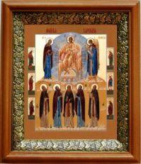 Молитва задержания (19х22), светлый киот