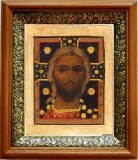 Спас Златые Власы (19х22), светлый киот