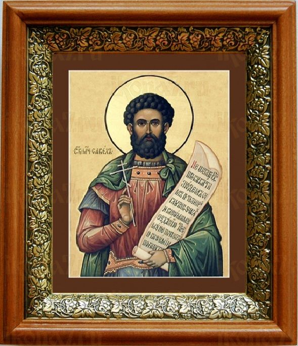 Савел Персиянин (19х22), светлый киот