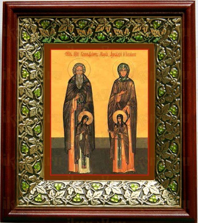 Ксенофонт и Мария (21х24), киот со стразами