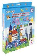 "Набор с флисовыми красками 10 цветов ""Замок"" (арт. 899099) (10129)"
