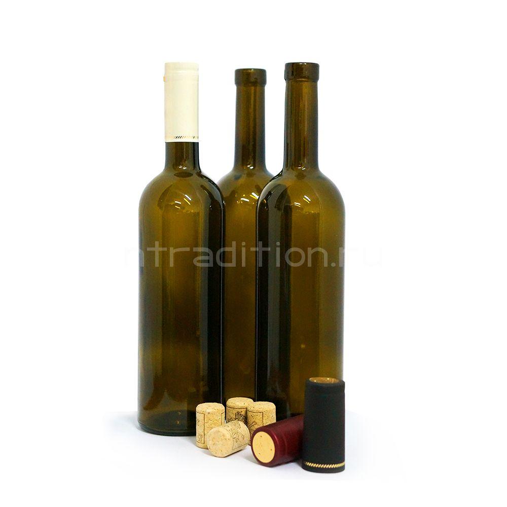 "Винная бутылка ""Бордо"", 0,75 л. 12 шт."