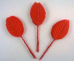 Листик. 10 см. Цвет красный (1 упаковка = 10*10 шт)