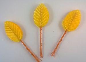 Листик. 10 см. Цвет желтый (1 упаковка = 10*10 шт)
