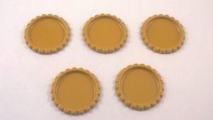 Крышка, материал металл, внутренний диаметр 25 мм, наружный 31 мм, цвет №03 (1 уп = 24 шт)