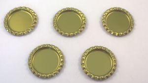 Крышка. Материал - металл. Внутренний диаметр 25 мм, наружный - 31 мм, цвет №44 золотой. (1 уп. = 24 шт)