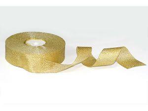 Лента металлизированная. Цвет золото 25 мм (Рулон 32 м)