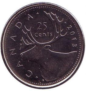 Канада 25 центов 2004 Олень