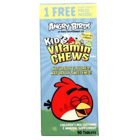 Natrol Angry Birds Kid's Vitamin Chews Mixed Berry (90 табл.)