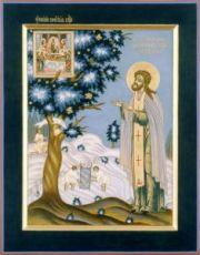 Икона Адриан Пошехонский (рукописная)