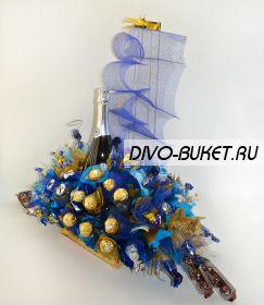 "498 Подарок с шампанским ""Романтика"""