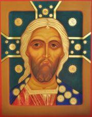 Икона Спас Златые Власы (рукописная)