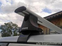 Багажник на крышу Chevrolet Lanos, Атлант, крыловидные аэродуги