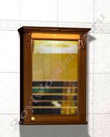 """Шкаф навесной для ванной комнаты """"Челси-2 УОРВИК-60R орех"""" из дерева (правая дверка)"""