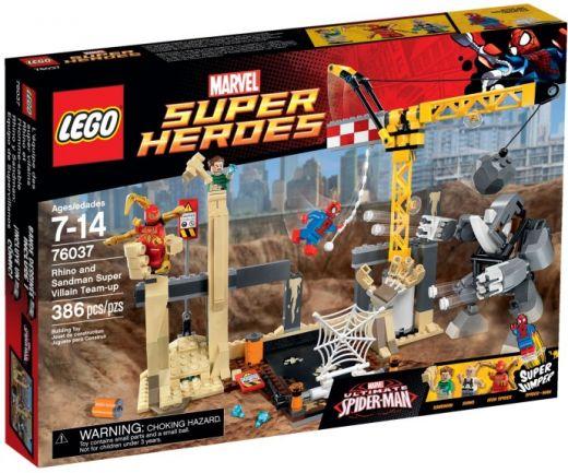 76037 Супергерои: Носорог и Песочный Человек Против Супергероев Конструктор ЛЕГО Супергерои