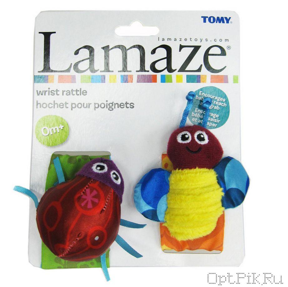 Браслеты на ручку для малышей (цветные насекомые)