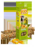 RIO Палочки для волнистых попугайчиков и экзотов с тропическими фруктами (2*40 г)