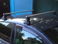 Багажник на крышу Chery Bonus, Атлант, прямоугольные дуги, опора Е