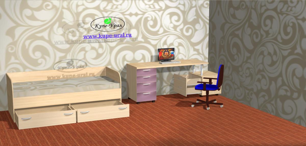 Компьютерный стол с кроватью ул.Фрезеровщиков