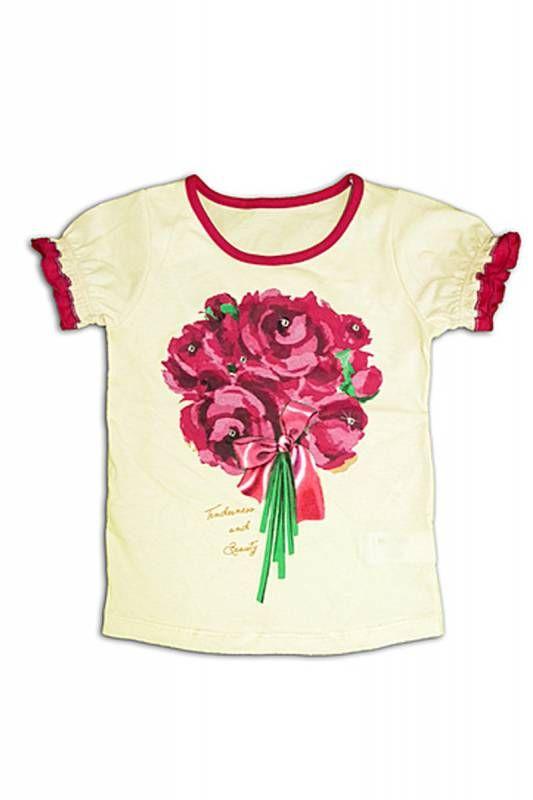 Блуза для девочки Пионы