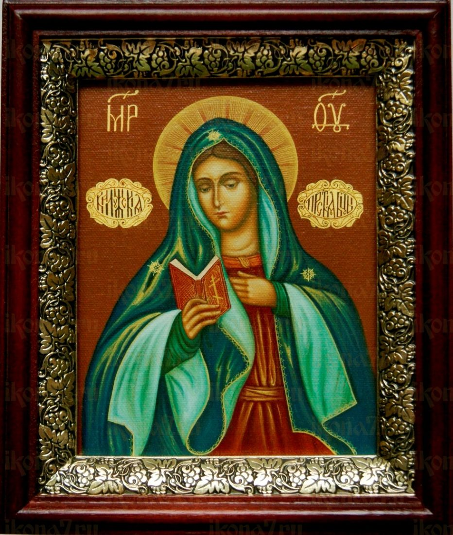 Калужская икона БМ (19х22), темный киот