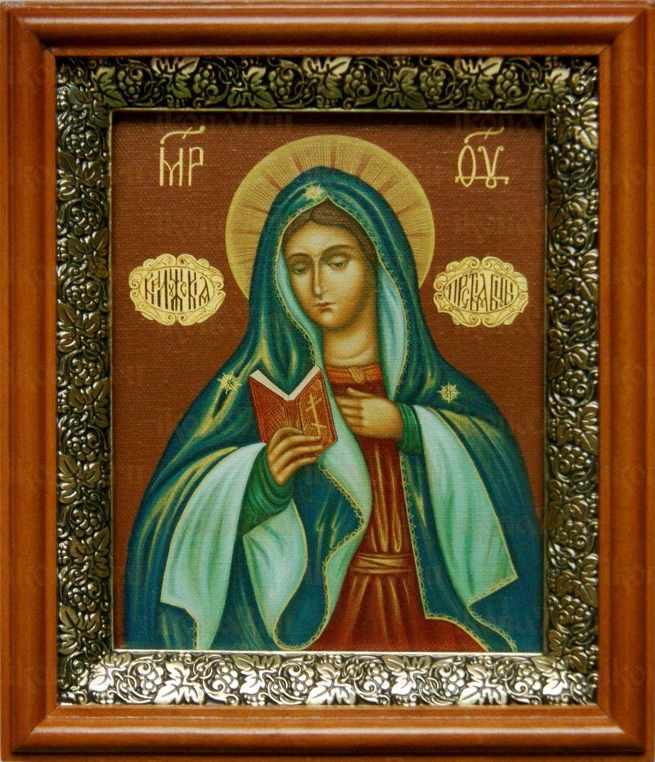 Калужская икона БМ (19х22), светлый киот