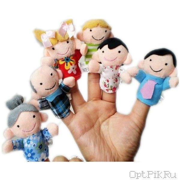 """Набор пальчиковых кукол """"Семья"""" 6 штук"""
