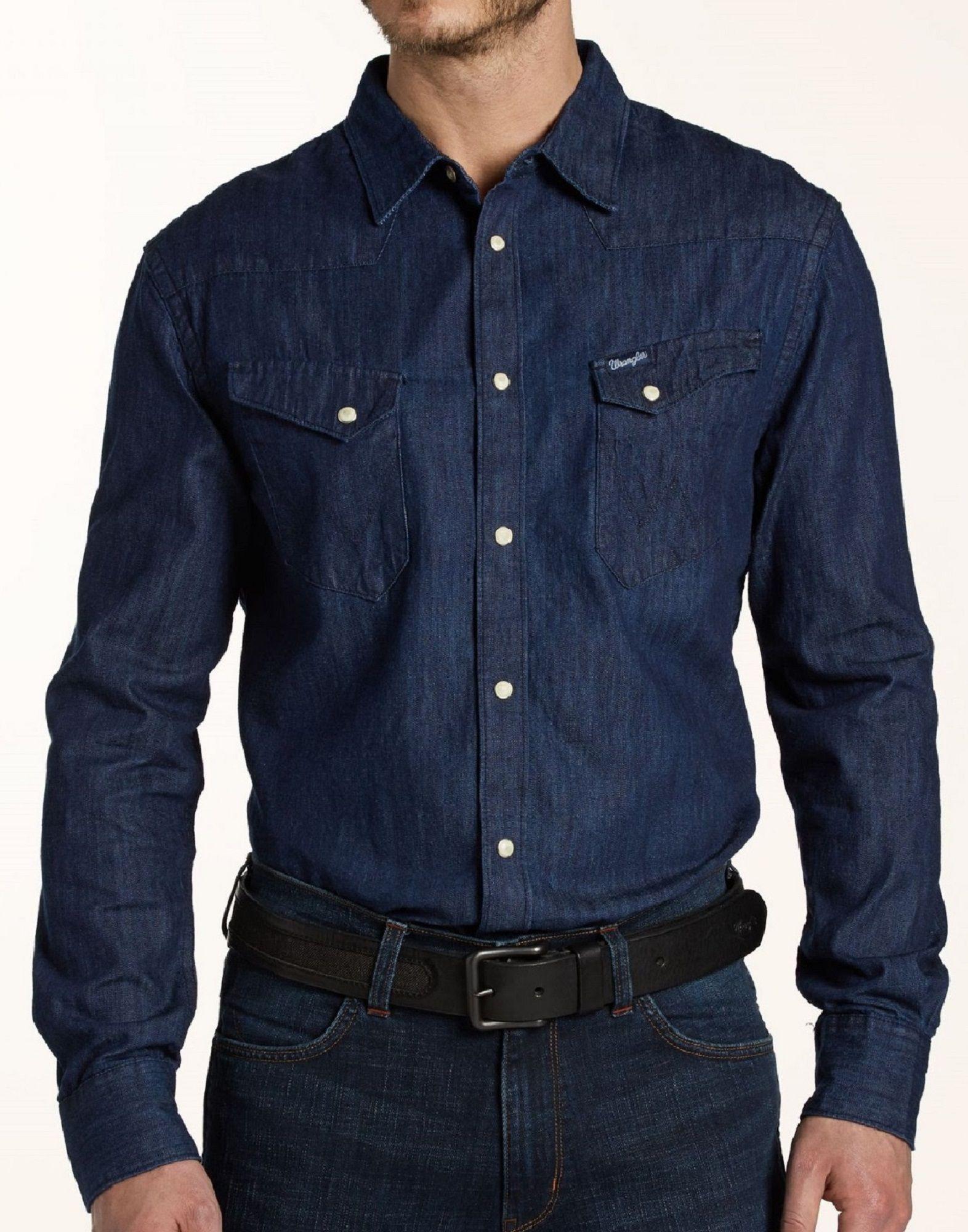 967e1c55672 Стильная мужская рубашка WRANGLER в магазине