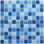 Navy blu стекло 25*25. Мозаика серия CRYSTAL, размер, мм: 300*300 (BONAPARTE)