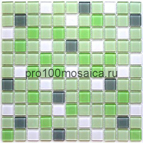 Soft mix стекло 25*25. Мозаика серия CRYSTAL, размер, мм: 300*300 (BONAPARTE)