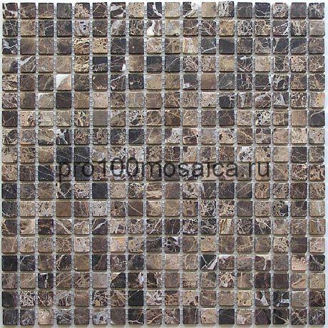 Ferato 15 slim (pol) 4 мм Emperador Dark. Мозаика серия STONE, размер, мм: 305*305 (BONAPARTE)