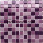 Violet стекло 25*25. Мозаика серия CRYSTAL, размер, мм: 300*300 (BONAPARTE)
