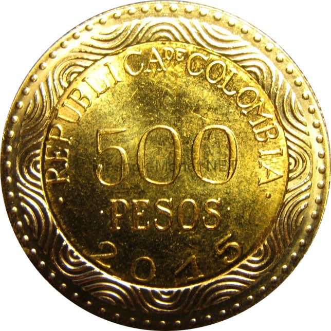 Колумбия 500 песо 2015 г.