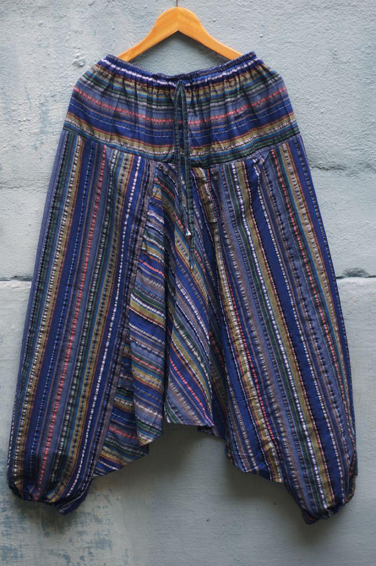 Полосатые штаны алладины, унисекс (отправка из Индии)