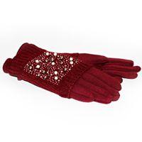 Двойные женские перчатки КАМНИ