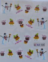 Водная наклейка для дизайна ногтей BJC - 028