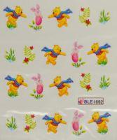 Водная наклейка для дизайна ногтей BLE 1692